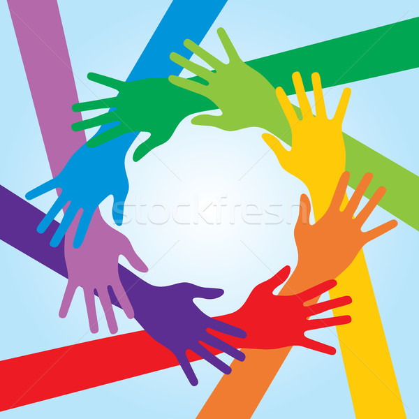 Human arms around colorful and next. Stock photo © cifotart