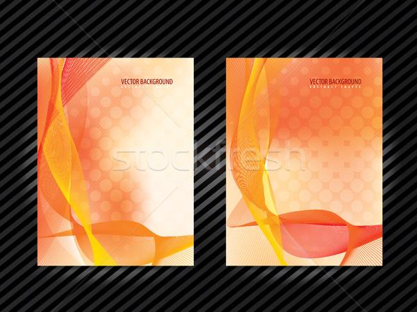 Corporate identity template layout design. Stock photo © cifotart