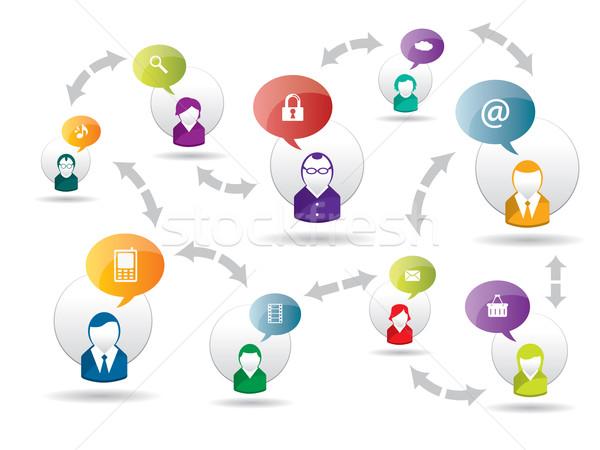 Médias sociaux internet affaires réseau social sécurité Photo stock © cifotart