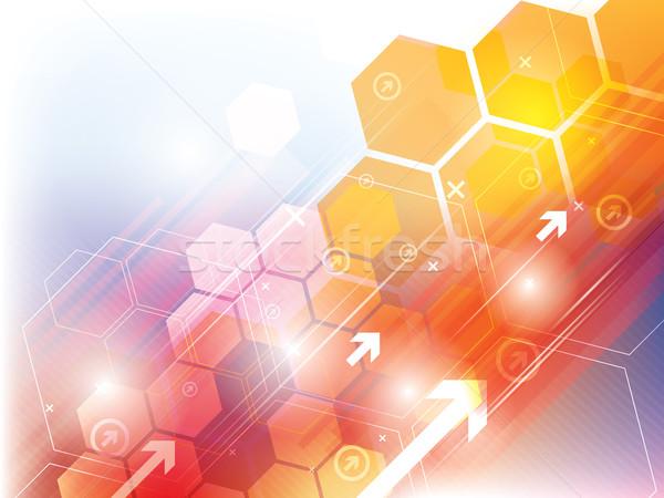 аннотация технологий оранжевый желтый вектора интернет Сток-фото © cifotart