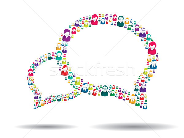 пузыря связи иллюстрация вектора бизнеса аннотация Сток-фото © cifotart