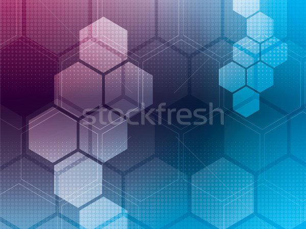 Streszczenie niebieski fioletowy komputera technologii sztuki Zdjęcia stock © cifotart