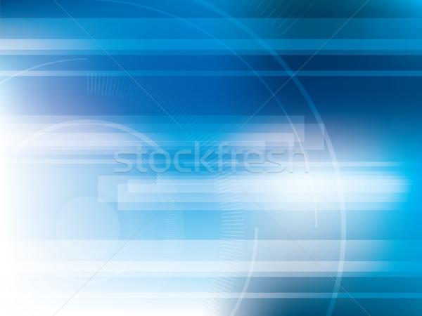 Technologii niebieski futurystyczny streszczenie jasne światła Zdjęcia stock © cifotart