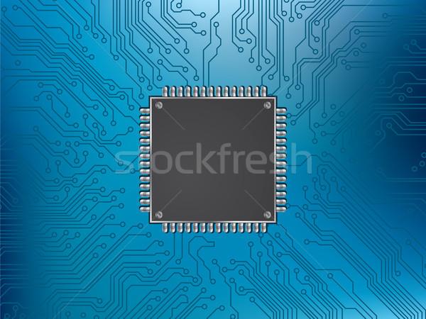 Circuito chip procesador industria electricidad bordo Foto stock © cifotart