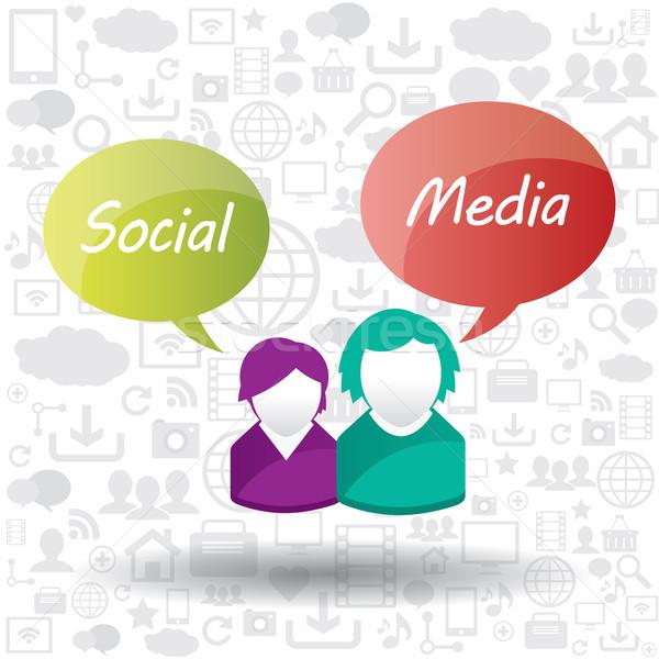Social media multimedia internet netwerk communicatie informatie Stockfoto © cifotart