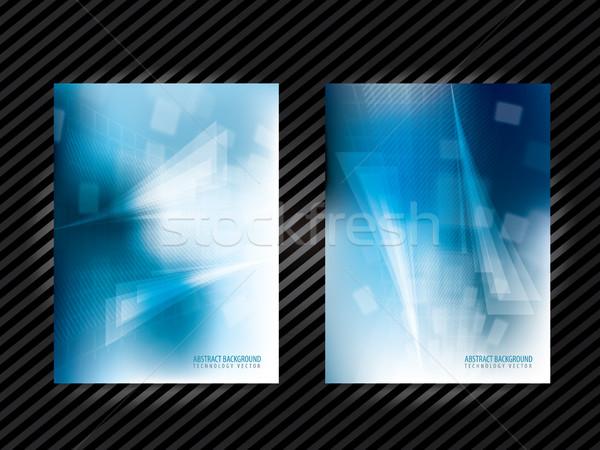 抽象的な 技術 ベクトル 企業 アイデンティティ テンプレート ストックフォト © cifotart