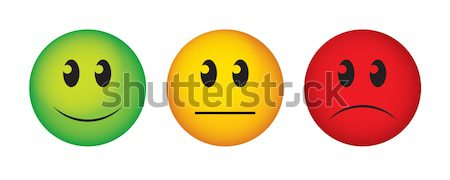 Stock photo: Buttons to vote on survey.
