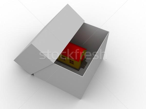 House in a box Stock photo © Ciklamen