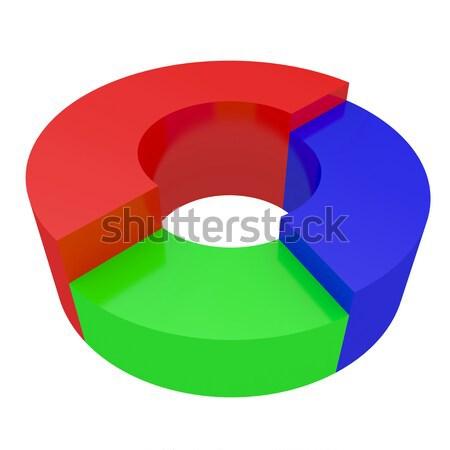 Renkli diyagramları beyaz iş soyut dizayn Stok fotoğraf © Ciklamen