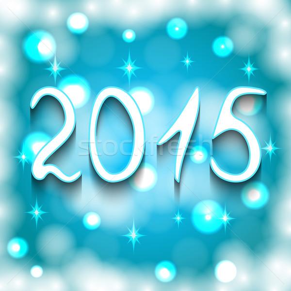 Boldog új évet 2015 fényes vektor absztrakt fény Stock fotó © Ciklamen