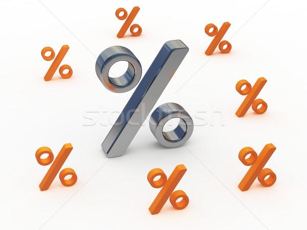 большой небольшой иконки процент белый домой Сток-фото © Ciklamen