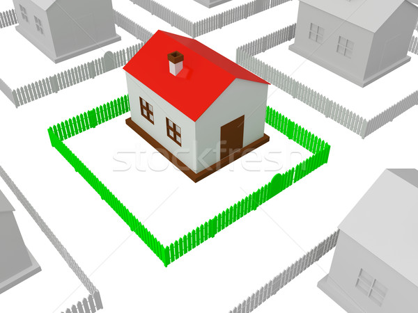 Little house with red roof  Stock photo © Ciklamen