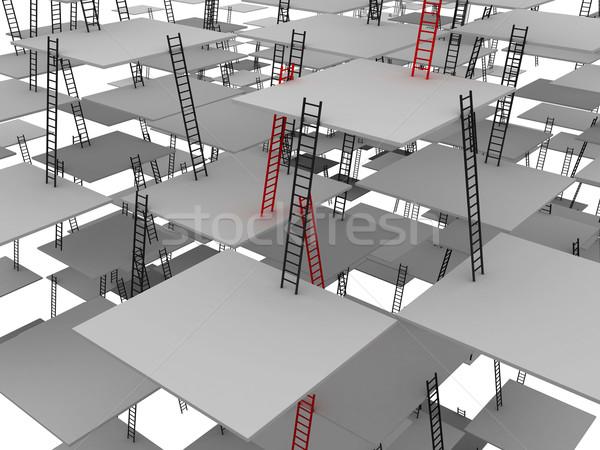Mozgás felfelé piros szürke űr vállalati Stock fotó © Ciklamen