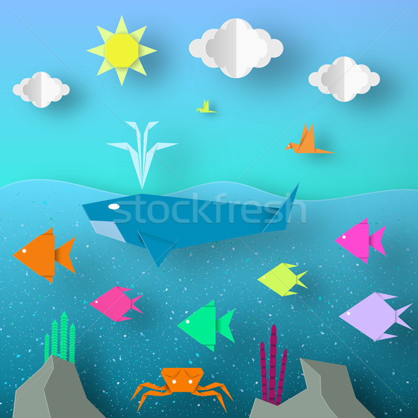 Underwater Paper Word.  Stock photo © Ciklamen