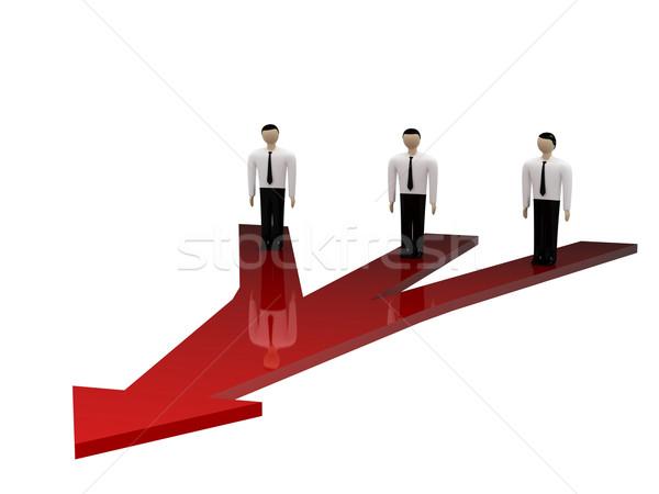 Seçim üç durmak kırmızı ok Stok fotoğraf © Ciklamen