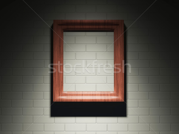 Frame on a brick wall Stock photo © Ciklamen