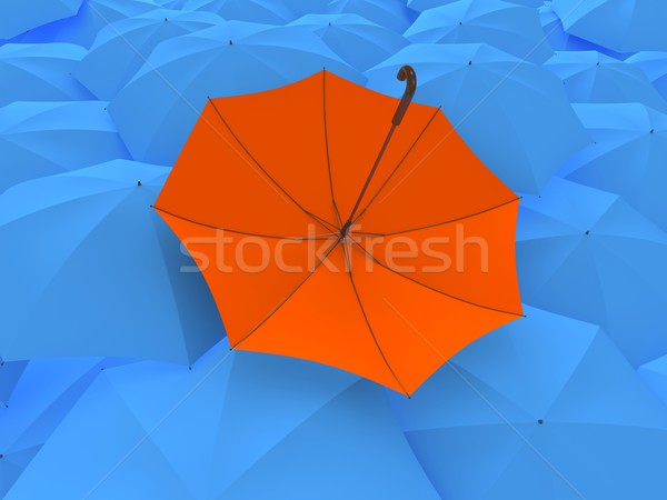 The turned umbrella Stock photo © Ciklamen