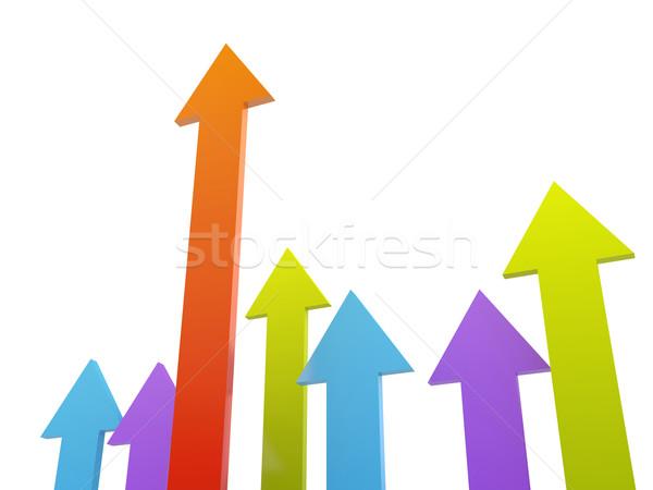 The colored arrows  Stock photo © Ciklamen