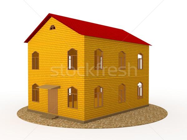 Two-storey house Stock photo © Ciklamen