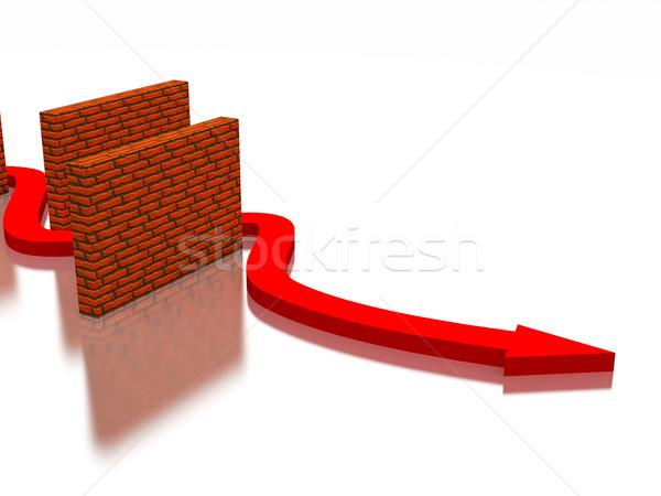 The red arrow  Stock photo © Ciklamen