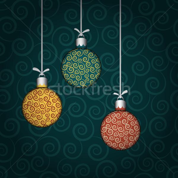 Renkli vektör Noel dizayn kış Stok fotoğraf © Ciklamen