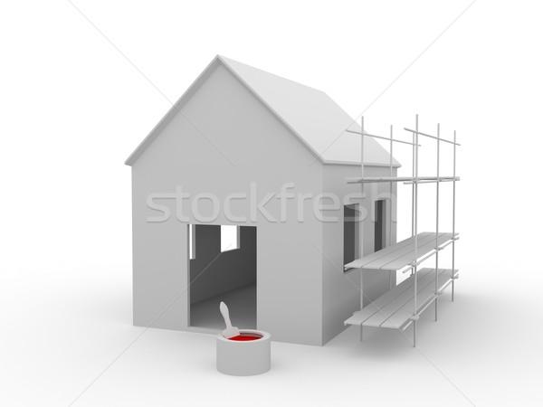Building a  house Stock photo © Ciklamen