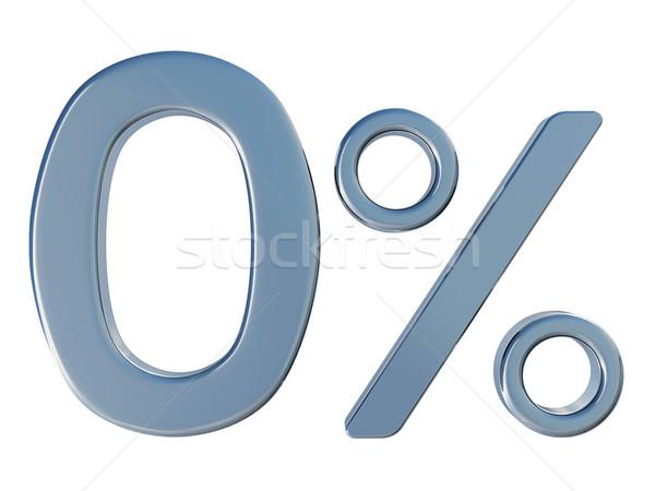 нулевой процент символ белый бизнеса деньги Сток-фото © Ciklamen