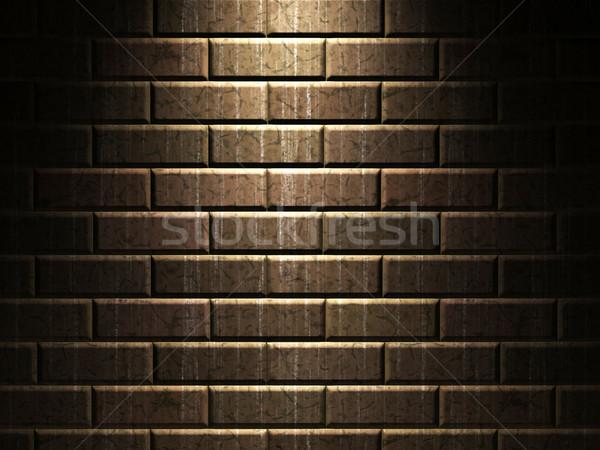 Téglafal öreg koszos épület építkezés űr Stock fotó © Ciklamen