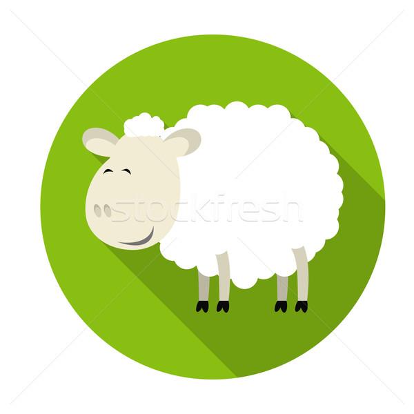 羊 アイコン 長い 影 2015 顔 ストックフォト © Ciklamen