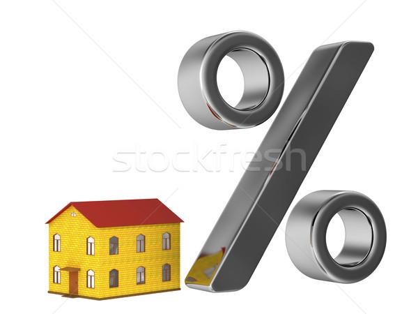 Jelzálog kicsi ház nagy százalék háttér Stock fotó © Ciklamen