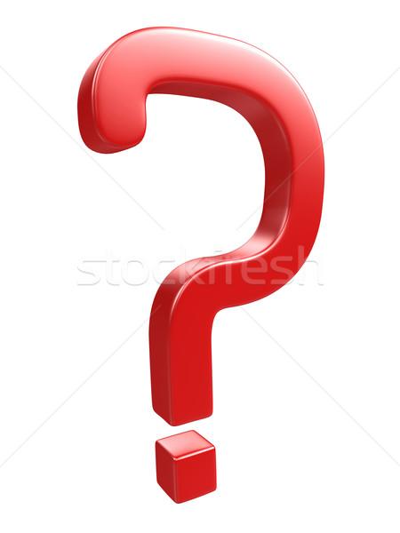 Kırmızı soru soru işareti beyaz vücut dizayn Stok fotoğraf © Ciklamen
