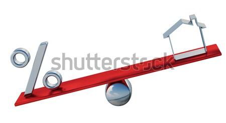 флажок зеленый красный Весы бизнеса крест Сток-фото © Ciklamen