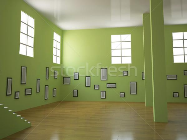 Nagy galéria szett képek építkezés fal Stock fotó © Ciklamen