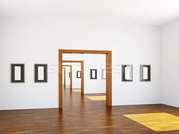 Galleria dipinti muri business costruzione Foto d'archivio © Ciklamen