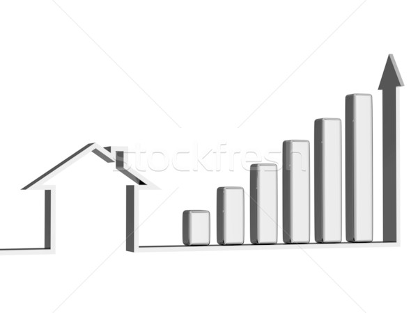 Growth of sales of real estate Stock photo © Ciklamen