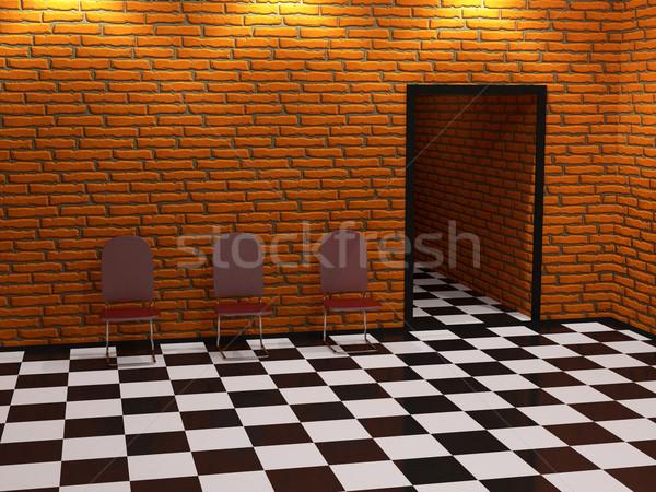 Three red chairs  Stock photo © Ciklamen