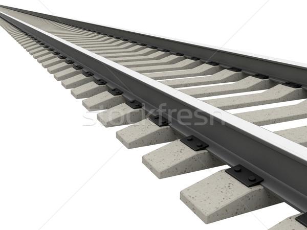 Hosszú vasút fehér út ipar jövő Stock fotó © Ciklamen