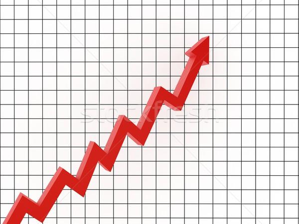 Haladás piros nyíl marketing diagram bemutató Stock fotó © Ciklamen