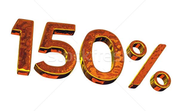 один сто пятьдесят золото процент символ Сток-фото © Ciklamen