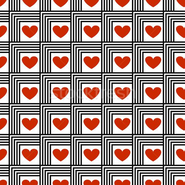 Minta szívek végtelenített vektor piros szeretet Stock fotó © Ciklamen