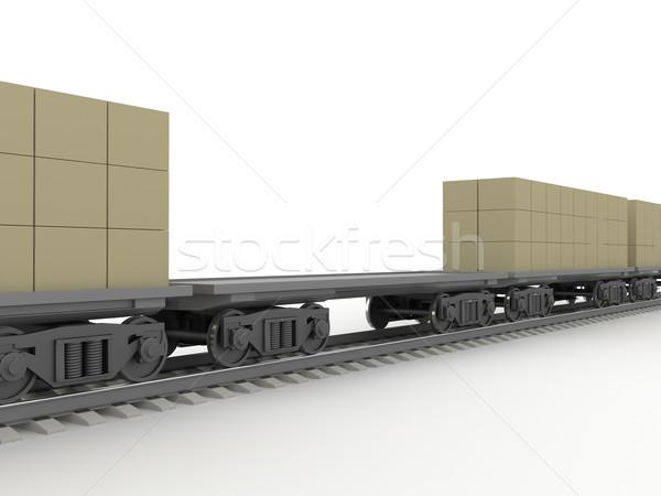Rail vervoer kruis trein industrie vervoer Stockfoto © Ciklamen