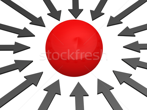 Stock photo: Red sphere