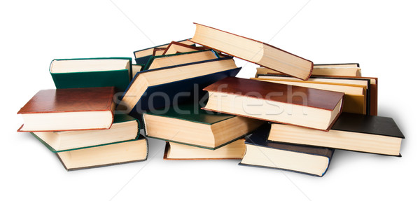 In front piled on a bunch of old books Stock photo © Cipariss