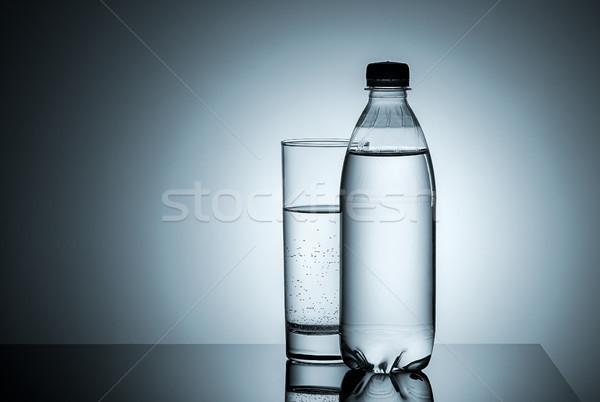 Műanyag üveg üveg víz gradiens sport Stock fotó © Cipariss