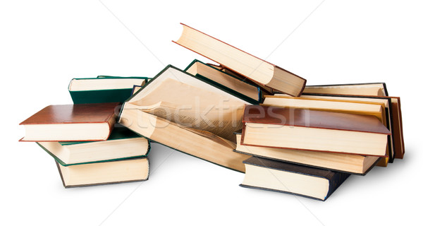 Piled on a bunch of old books Stock photo © Cipariss