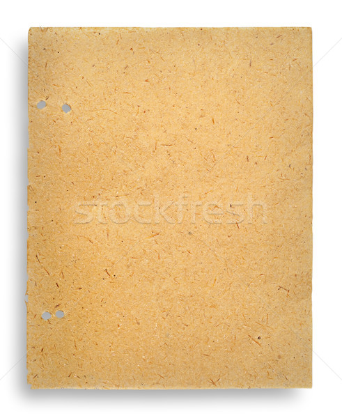 One sheet of old yellowed parchment paper Stock photo © Cipariss