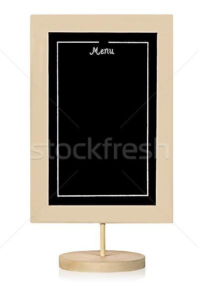 Restaurant menu board vertically Stock photo © Cipariss