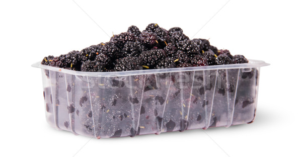 Mulberry in a plastic tray rotated Stock photo © Cipariss