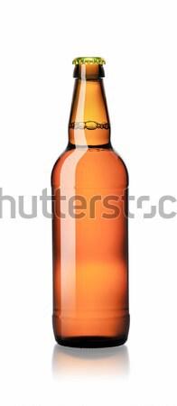 Zárva egy üveg sör izolált fehér Stock fotó © Cipariss