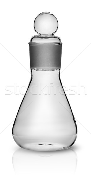 Old laboratory flask with ground glass stopper Stock photo © Cipariss